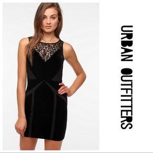 Ecoté Black Velvet Mini Dress